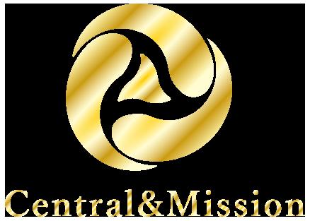 株式会社Central & Missionロゴ ゴールド