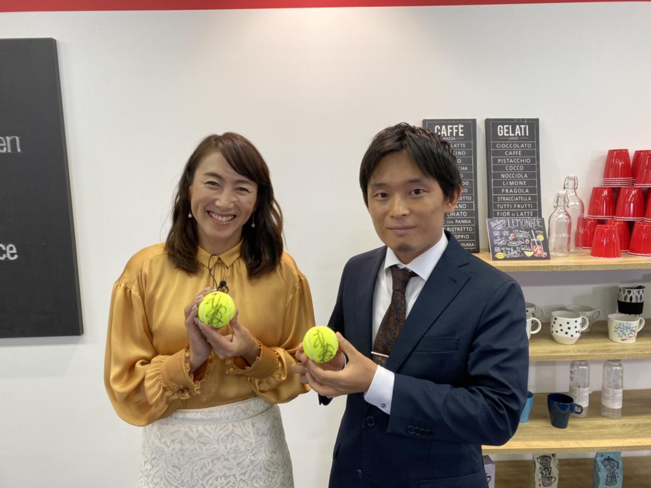 元プロテニス選手 杉山愛さんと当社代表西澤 裕倖